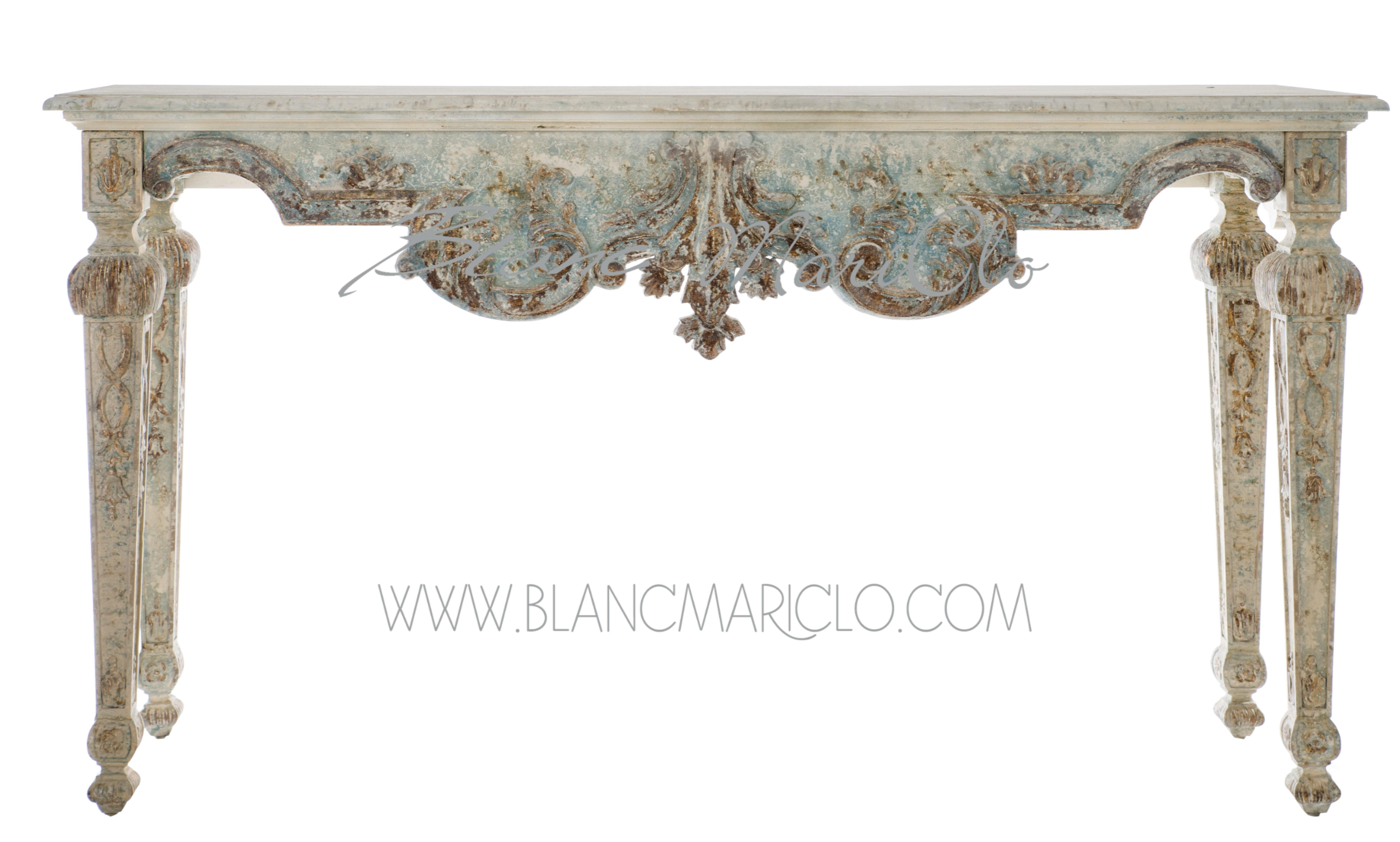 Consolle shabby chic Fragonard Collection Blanc MariClo - Follie