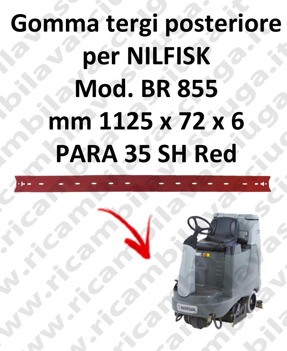 Gomma tergi posteriore per lavapavimenti NILFISK modello BR 855