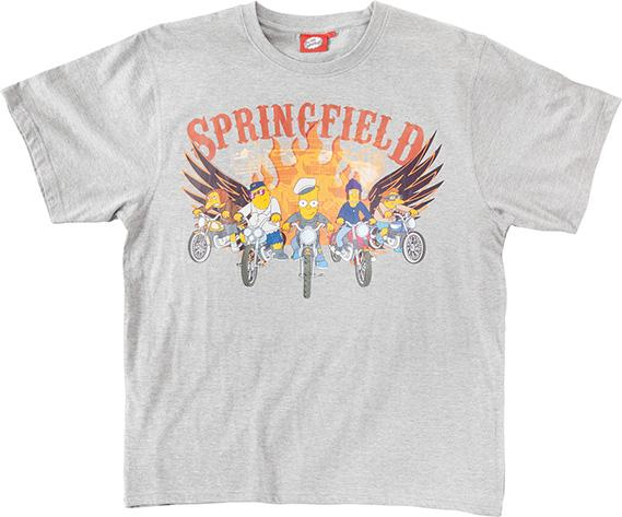 Simpsons Bart Fronte del Porto T-Shirt adulto Maglia manica corta cotone Springfield