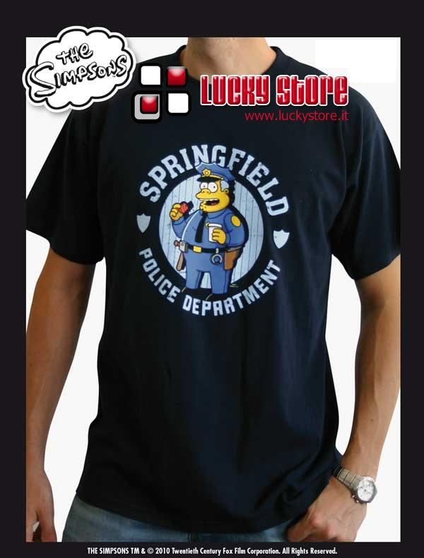 Simpsons Maglia Springfield Police Department Winchester T-Shirt  manica corta cotone