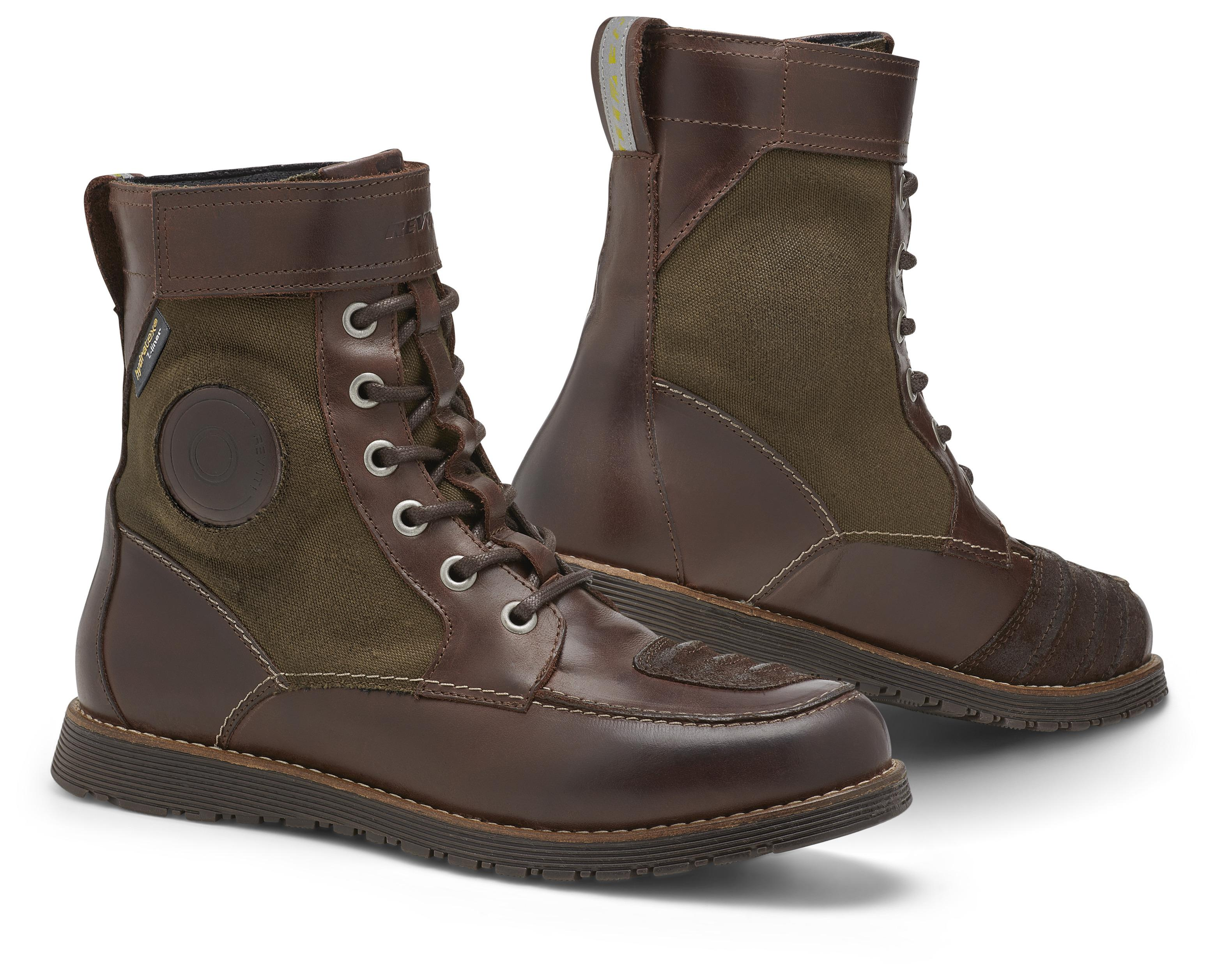 REV IT ROYALE H2O Motorcycle Shoes Brown and Olive