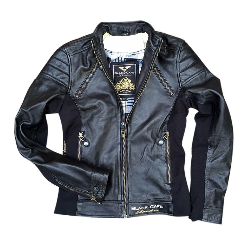 cheaper 33489 59bf6 BLACK CAFE LONDON LJ10685 Giubbotto in Pelle Donna - Nero ...