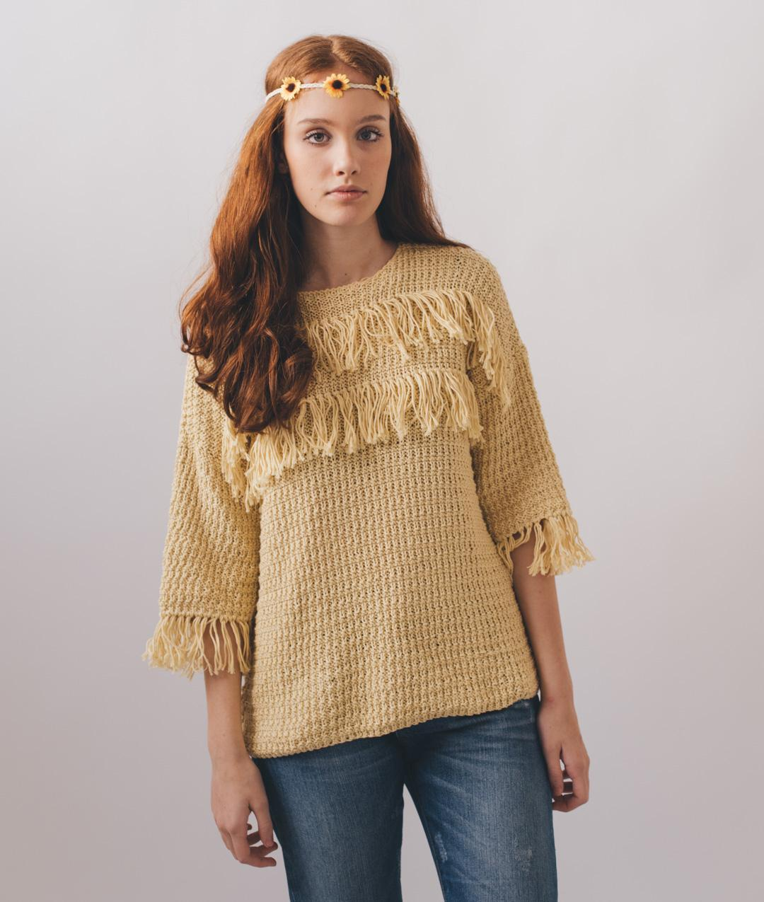 Sweaters and Tops - Cotton - Peace & Fringes Sweater - 1