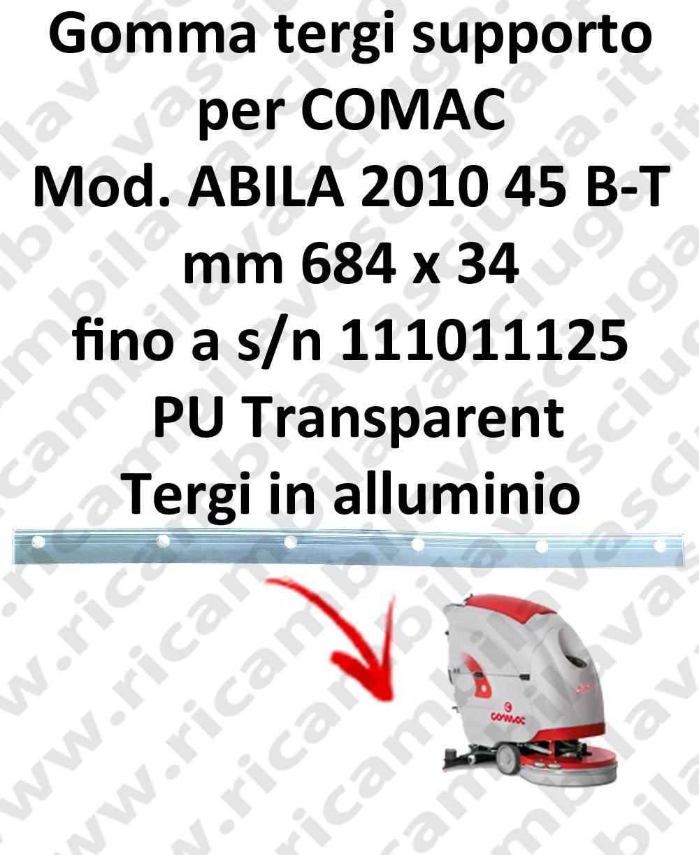 ABILA 45 B - BT fino a s/n 111011125 GOMMA TERGIPAVIMENTO supporto per COMAC ricambio lavapavimenti squeegee