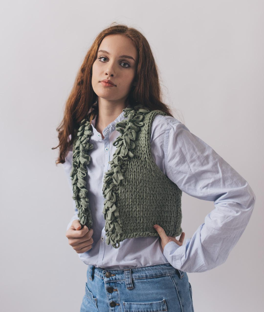 Cardigans and Vests  - Cotton - Bloomy Vest - 1