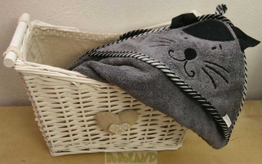 GATTI - Bamboo-line - asciugamano neonato in spugna di bamboo al 100 % con cappuccio