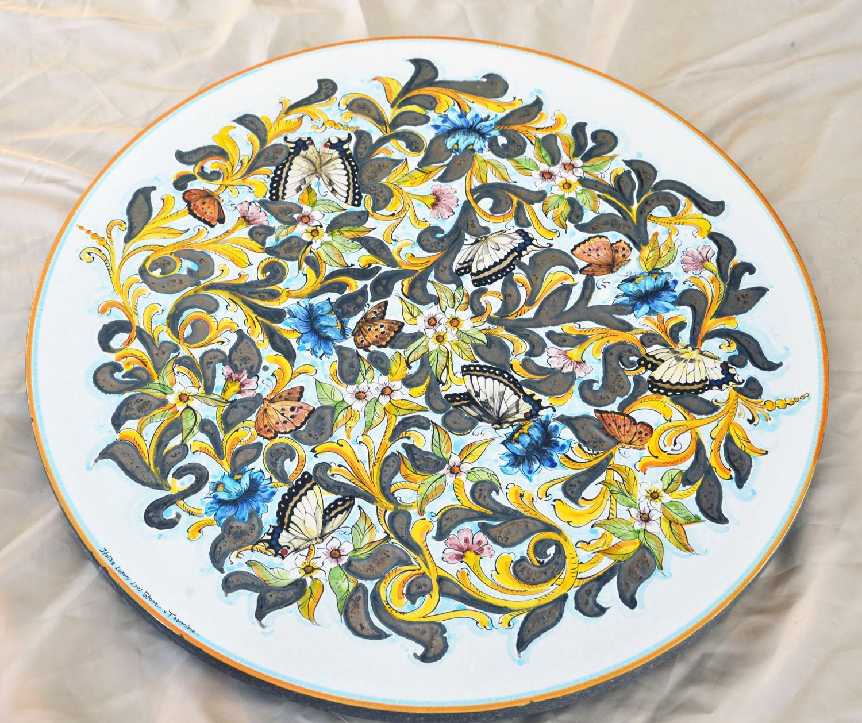 Tavolo in pietra lavica ceramizzata gold butterfly italian luxury lava stone di stracuzzi - Pietra lavica da tavolo ...
