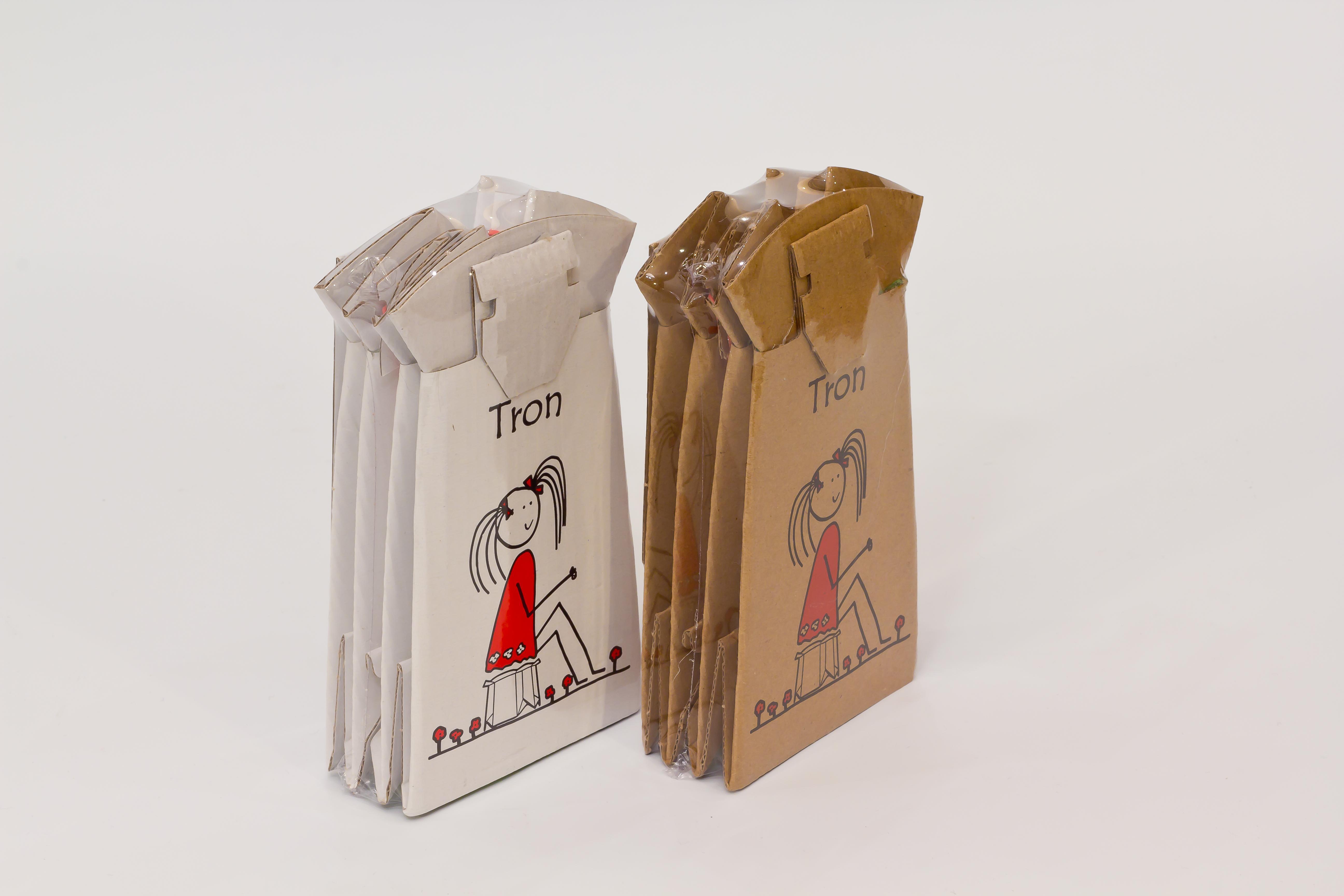 Tron - vasino monouso pieghevole e biodegradabile ideale per uscite fuori casa - multipack