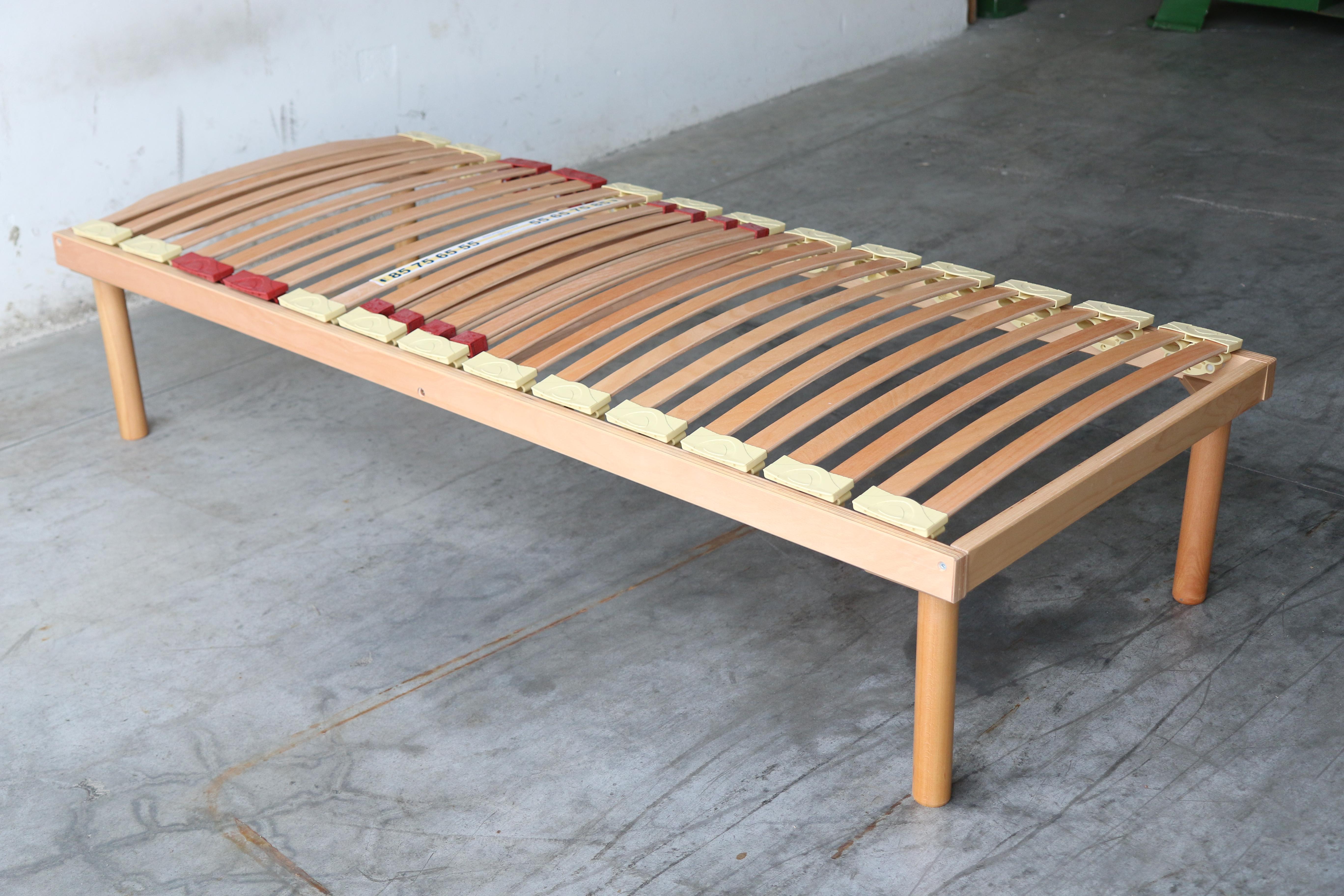 Rete legno con regolatori di rigidt\u00e0 100% Legno di Faggio 80x190 | Alba