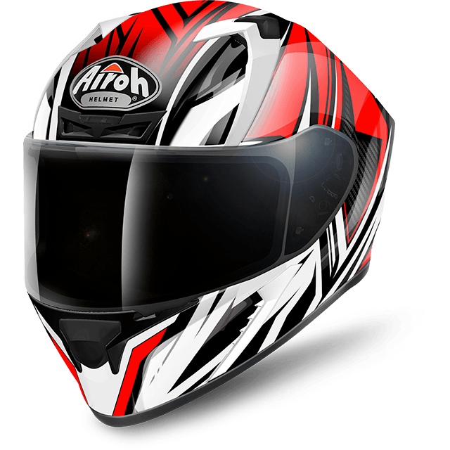 CASCO MOTO INTEGRALE AIROH VALOR CONQUER RED GLOSS VACQ55