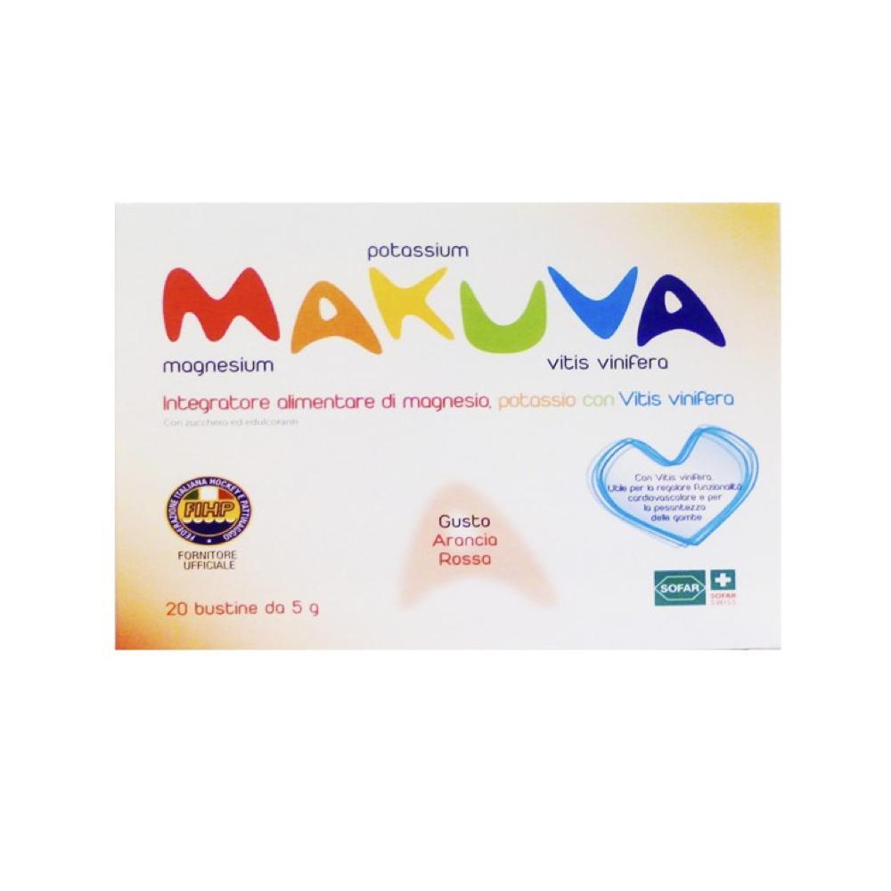 MAKUVA - INTEGRATORE DI MAGNESIO, POTASSIO CON VITIS VINIFERA