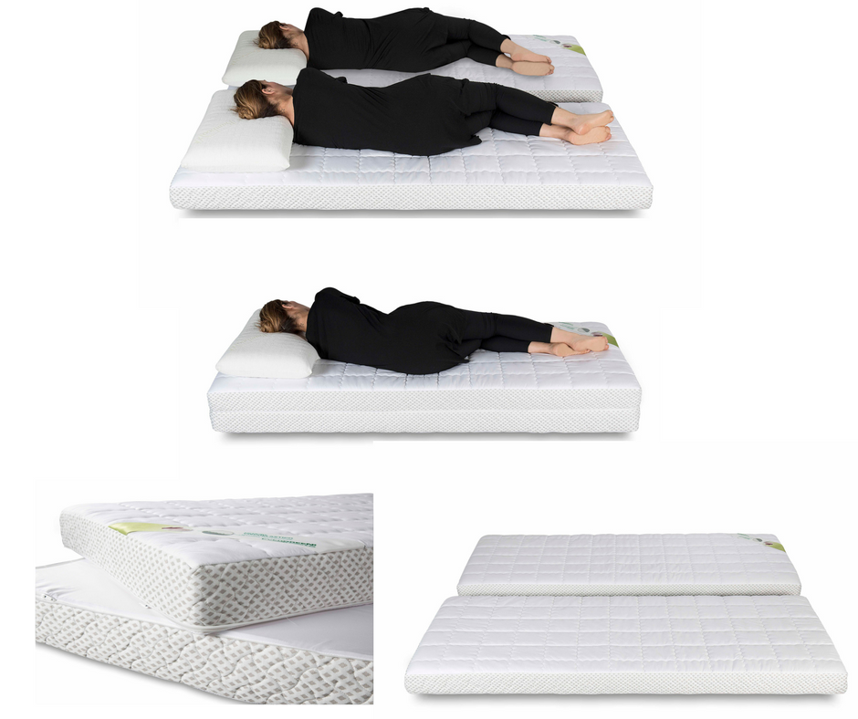 matelas a m moire de forme 1 personne convertible en 2 matelas 80x190. Black Bedroom Furniture Sets. Home Design Ideas