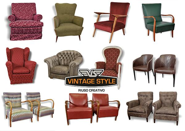 Divani e Poltrone Vintage: Arredamento anni 40 e 50 | VINTAGE STYLE SAS