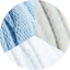 Skye Blue - Pearl - White