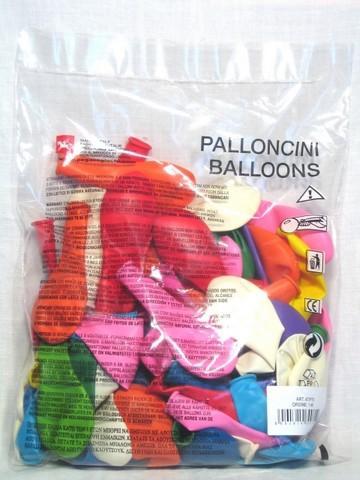 PALLONCINI DA 100 PZ. PALLONCINI TONDI 70 D. AT-P70 PEGASO new