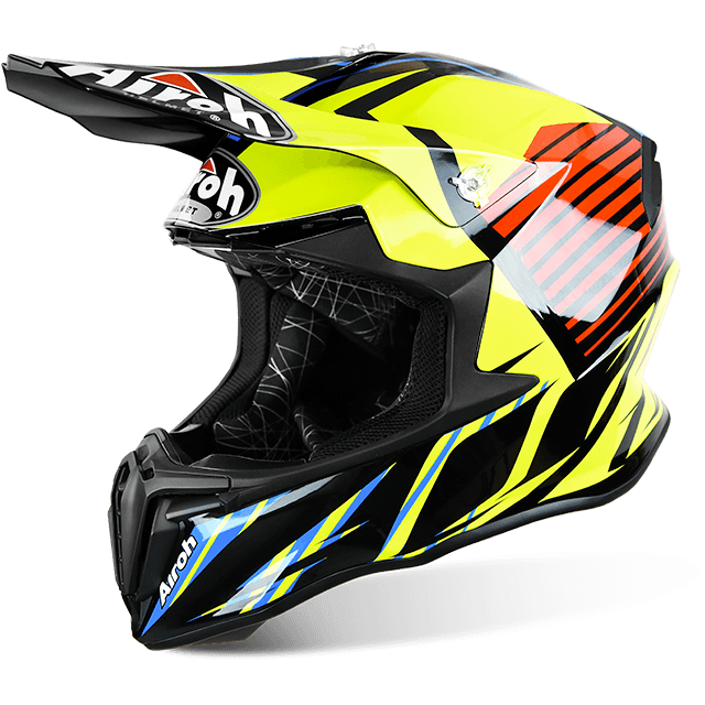CASCO MOTO CROSS AIROH TWIST STRANGE BLUE GLOSS TWST18