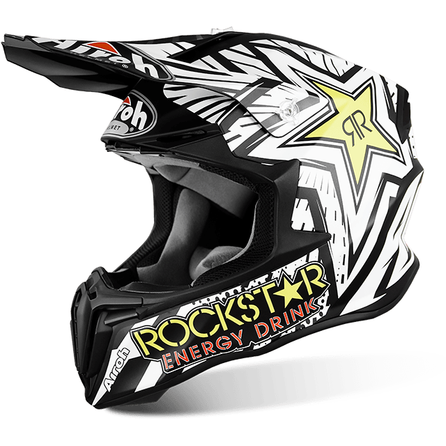 CASCO MOTO CROSS AIROH TWIST ROCKSTAR MATT TWRK11