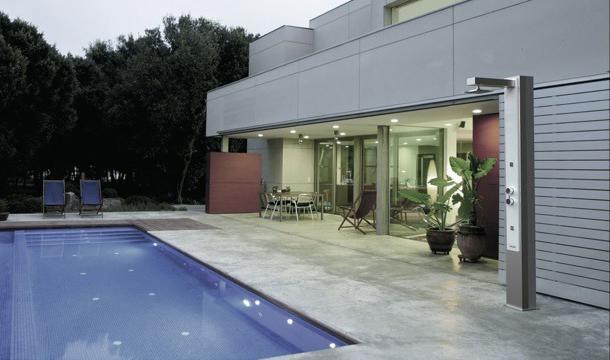 Doccia solare per piscina iguazu 30 litri in acciaio con - Doccia solare per piscina ...