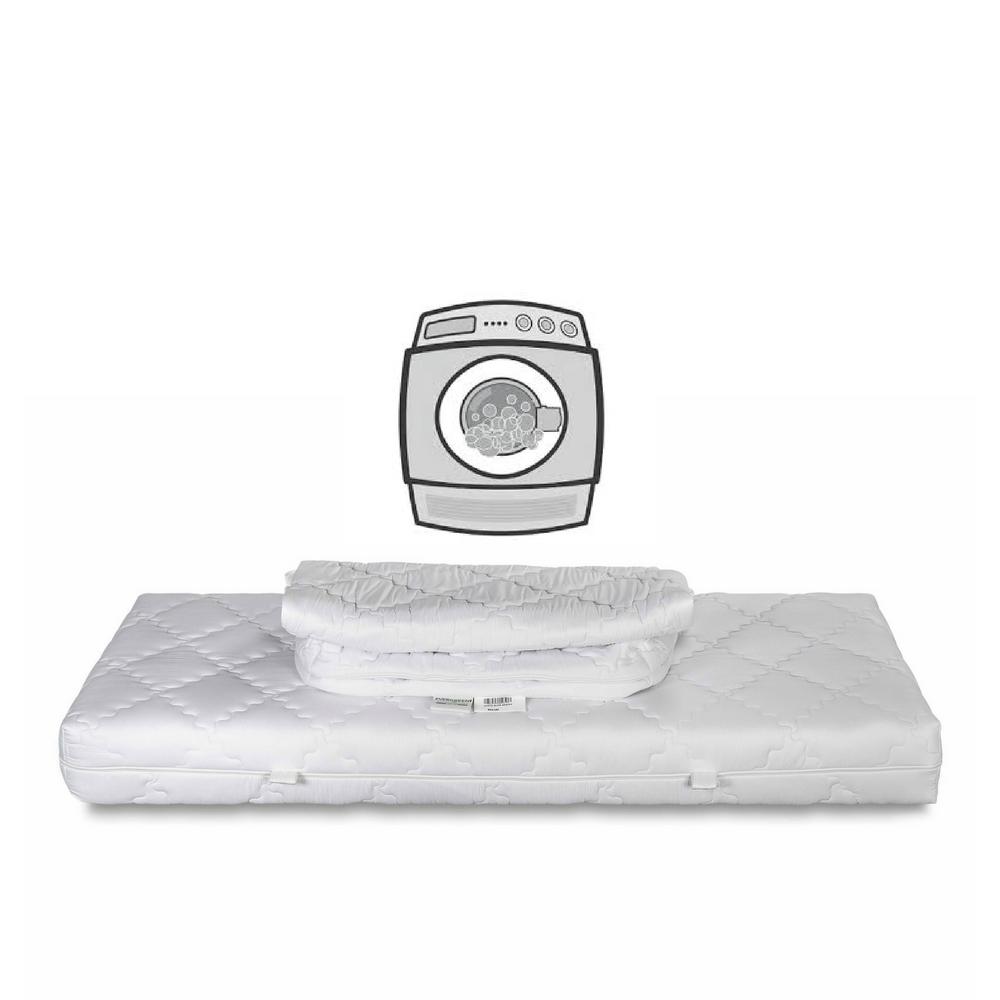 Matelas \u00e0 m\u00e9moire de forme simple 2 Housse amovible et lavable en machine dans 60  Elite Memory