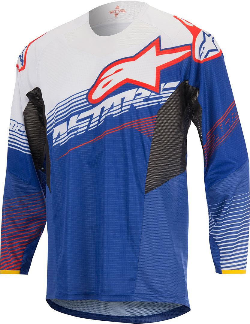 MAGLIA MOTO CROSS ALPINESTARS TECHSTAR FACTORY 2017 BLUE WHITE RED