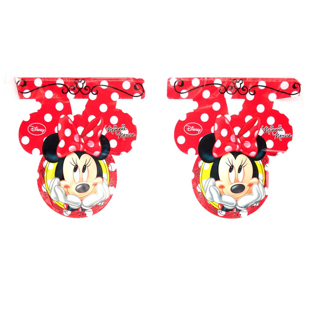 Festone a bandierine Minnie Mouse