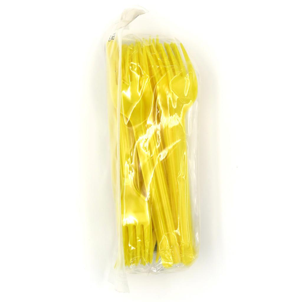 Forchette Gialle in plastica