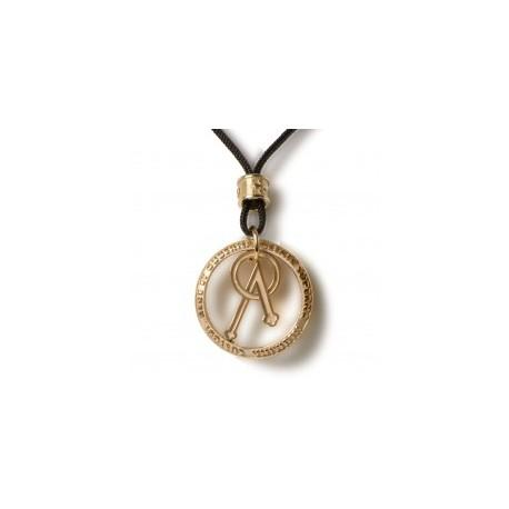 TUUM ANGELO TINY PENDANT T-GOLD WITH STRING