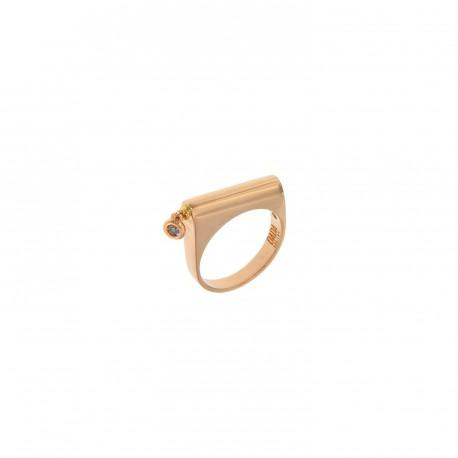 ANELLO FUNNY LOOP TIFFANY ORO ROSA  E DIAMANTI BROWN