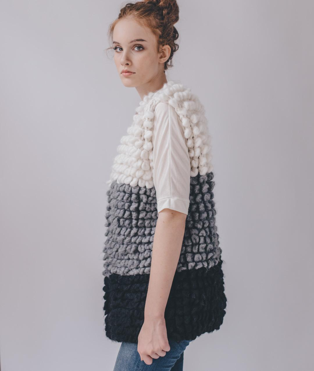 Sweaters and Tops - Wool - Loopy Waistcoat - 1