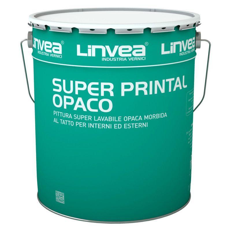 Pittura super lavabile Super Printal Opaco 15lt LINVEA (DISPONIBILE IN NEGOZIO)