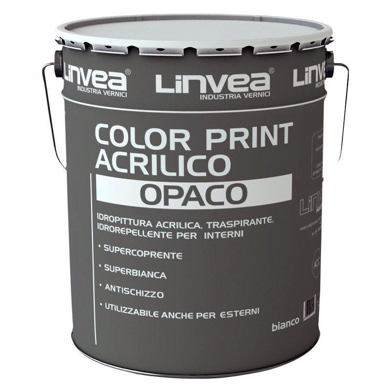 Pittura Color Print Acrilico Opaco 14lt LINVEA (DISPONIBILE IN NEGOZIO)