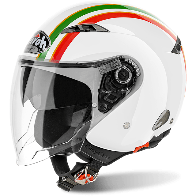 CASCO MOTO AIROH JET CITY ONE STYLE GOLD GLOSS COS39