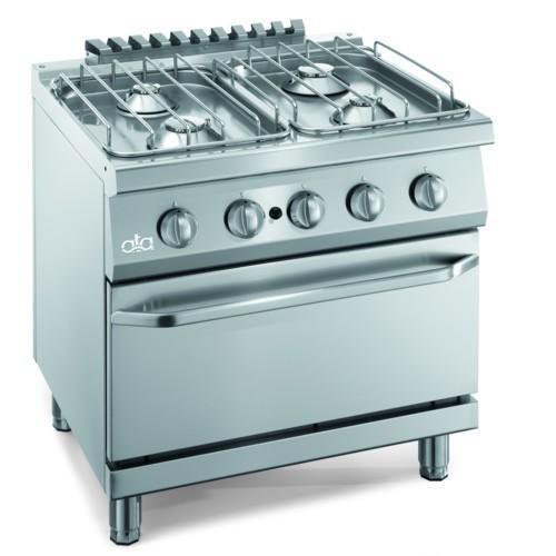 Cucina piano cottura gas pavimento 4 fuochi forno cm 80x70x85 soonbuy - Consumo gas cucina ...
