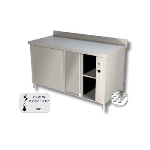 Tavolo 130x80x90 acciaio inox 430 caldo scaldapiatti ...