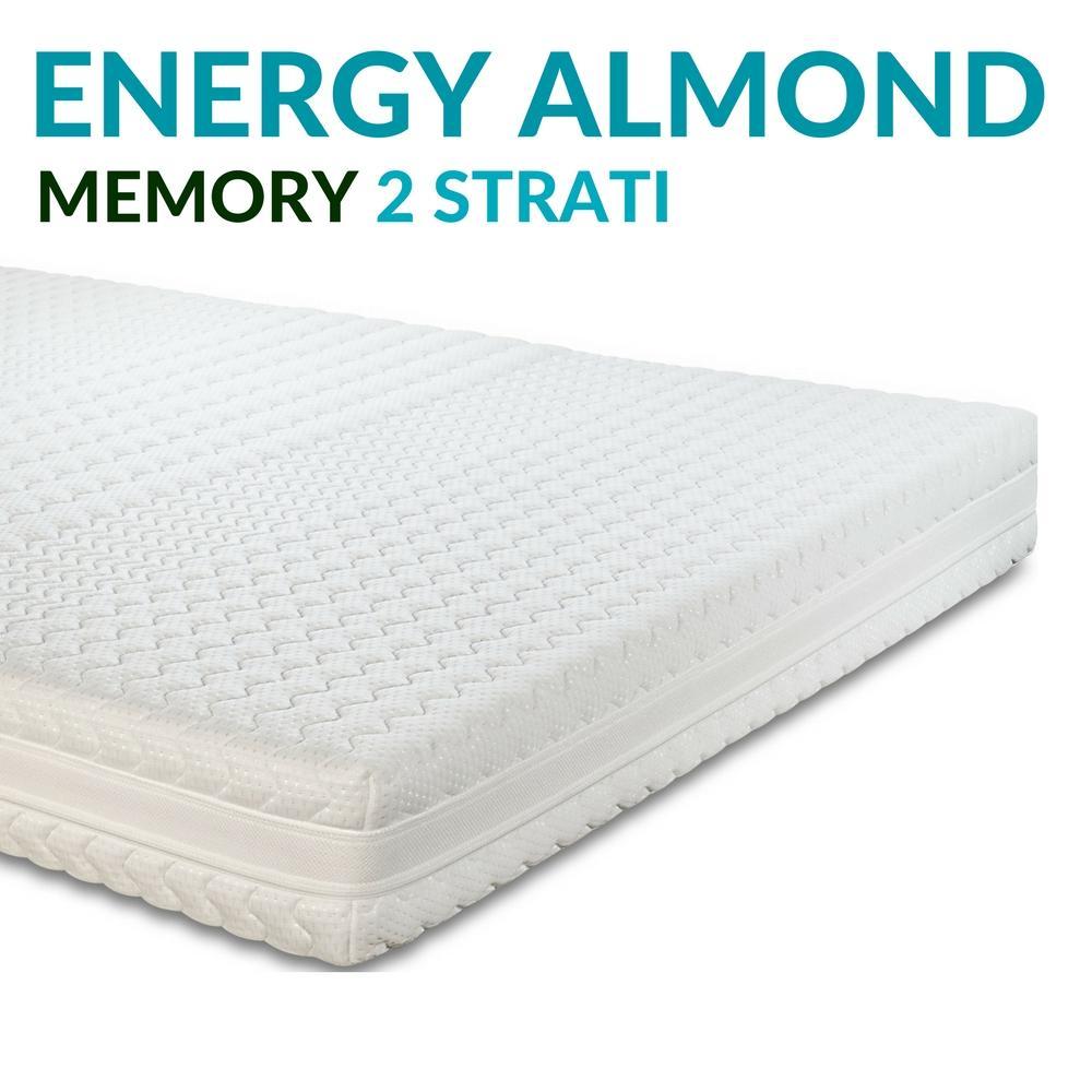 Materasso Memory Ortopedico 4 cm Memory H20  Energy Almond