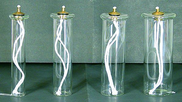 Cartuccia pirex mm. 58 per finta  candela Ø 8