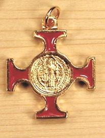 Croce celtica smaltata S. Benedetto