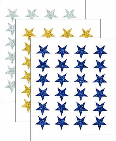 Fogli adesivi stella olografica