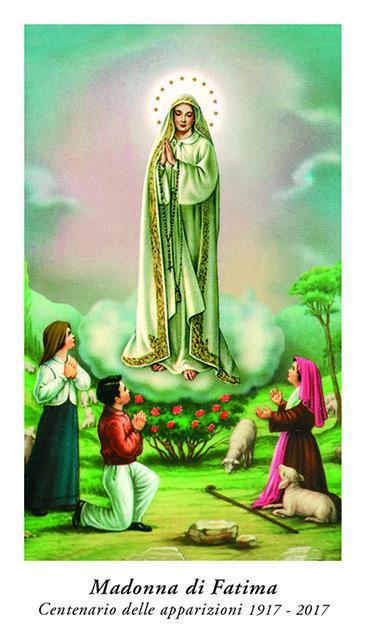 Immagine carta Madonna di Fatima