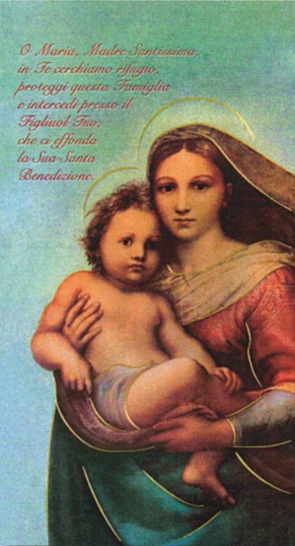 Madonna con Bimbo 12x22 oro (100 pz)