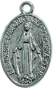 Medaglia Miracolosa argentata piccola