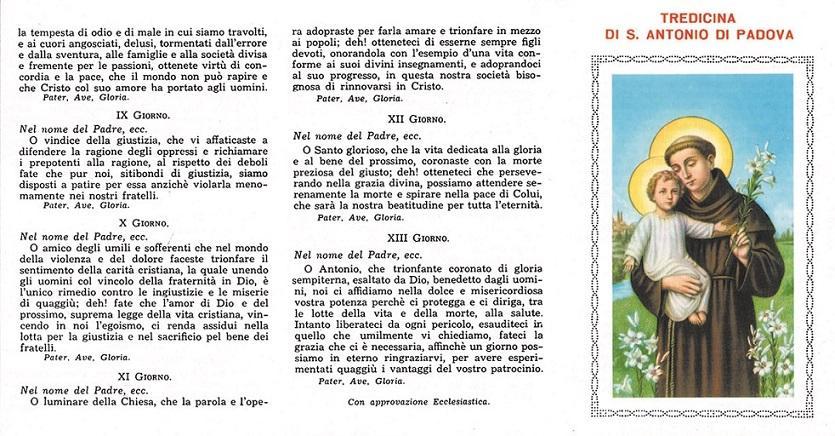 Tredicina di S. Antonio (100 pz)