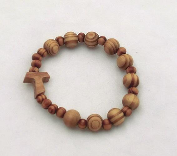Braccialetto legno legatura elastico