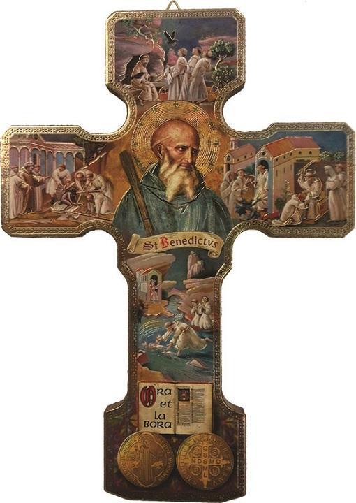 Croce in legno S. Benedetto piccola