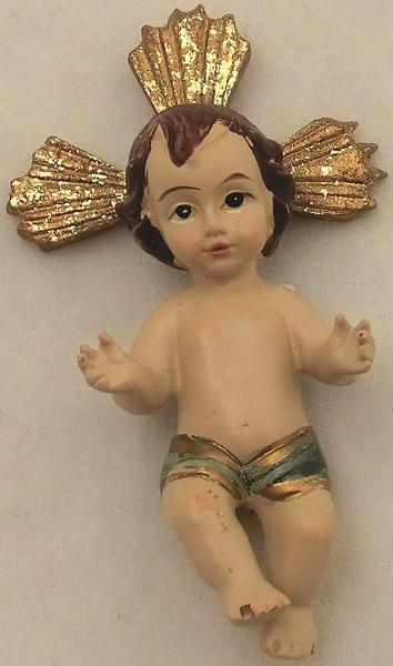 Gesù Bambino in resina cm. 5,5