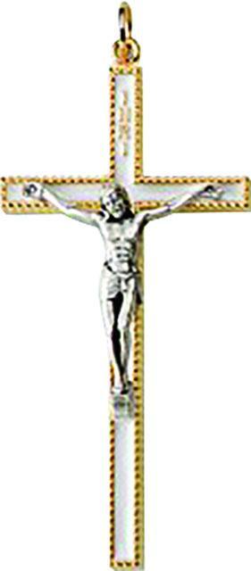 Croce comunione in metallo cm. 8,5