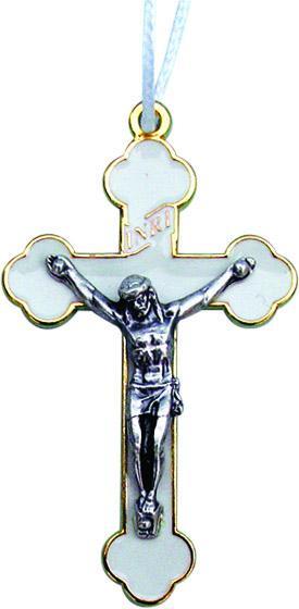Croce con cordoncino in metallo