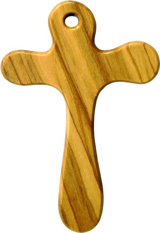 Croce con cordoncino in ulivo