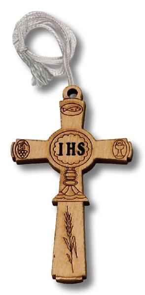 Croce in legno con calice