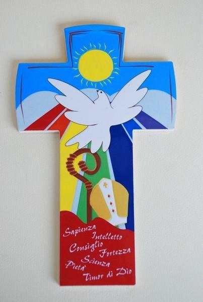 Croce in legno Confermazione da appendere